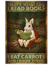 That's What I Do I Read Books I Eat Carrots  11x17 Poster front