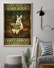 That's What I Do I Read Books I Eat Carrots  11x17 Poster lifestyle-poster-1