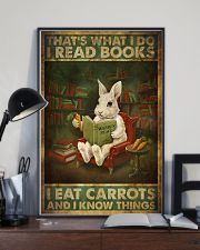 That's What I Do I Read Books I Eat Carrots  11x17 Poster lifestyle-poster-2