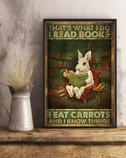 That's What I Do I Read Books I Eat Carrots  11x17 Poster lifestyle-poster-3