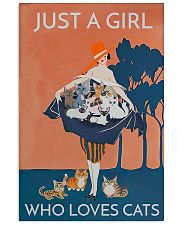 Just A Girl Who Loves Cats 11x17 Poster front