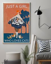 Just A Girl Who Loves Cats 11x17 Poster lifestyle-poster-1