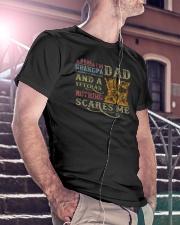 I'm A Dad Grandpa and A Veteran Classic T-Shirt lifestyle-mens-crewneck-front-5