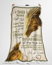 """To My Dad Large Fleece Blanket - 60"""" x 80"""" aos-coral-fleece-blanket-60x80-lifestyle-front-10"""