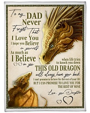 """To My Dad Large Fleece Blanket - 60"""" x 80"""" front"""