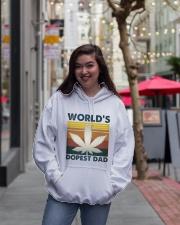 World's Dopest Dad Hooded Sweatshirt lifestyle-unisex-hoodie-front-2