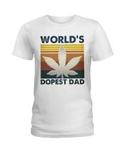 World's Dopest Dad Ladies T-Shirt thumbnail