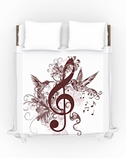 Treble Clef And Hummingbirds Duvet Cover - Queen aos-duvet-covers-88x88-lifestyle-front-01