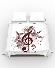 Treble Clef And Hummingbirds Duvet Cover - Queen aos-duvet-covers-88x88-lifestyle-front-02