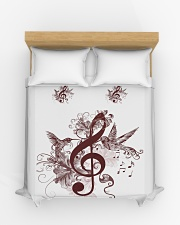 Treble Clef And Hummingbirds Duvet Cover - Queen aos-duvet-covers-88x88-lifestyle-front-03