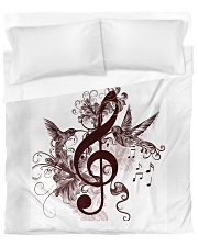 Treble Clef And Hummingbirds Duvet Cover - Queen front