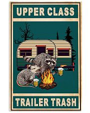 Raccoon Camping Upper Class Trailer Trash 11x17 Poster front