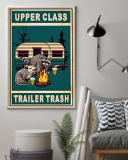 Raccoon Camping Upper Class Trailer Trash 11x17 Poster lifestyle-poster-1