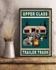 Raccoon Camping Upper Class Trailer Trash 11x17 Poster lifestyle-poster-3