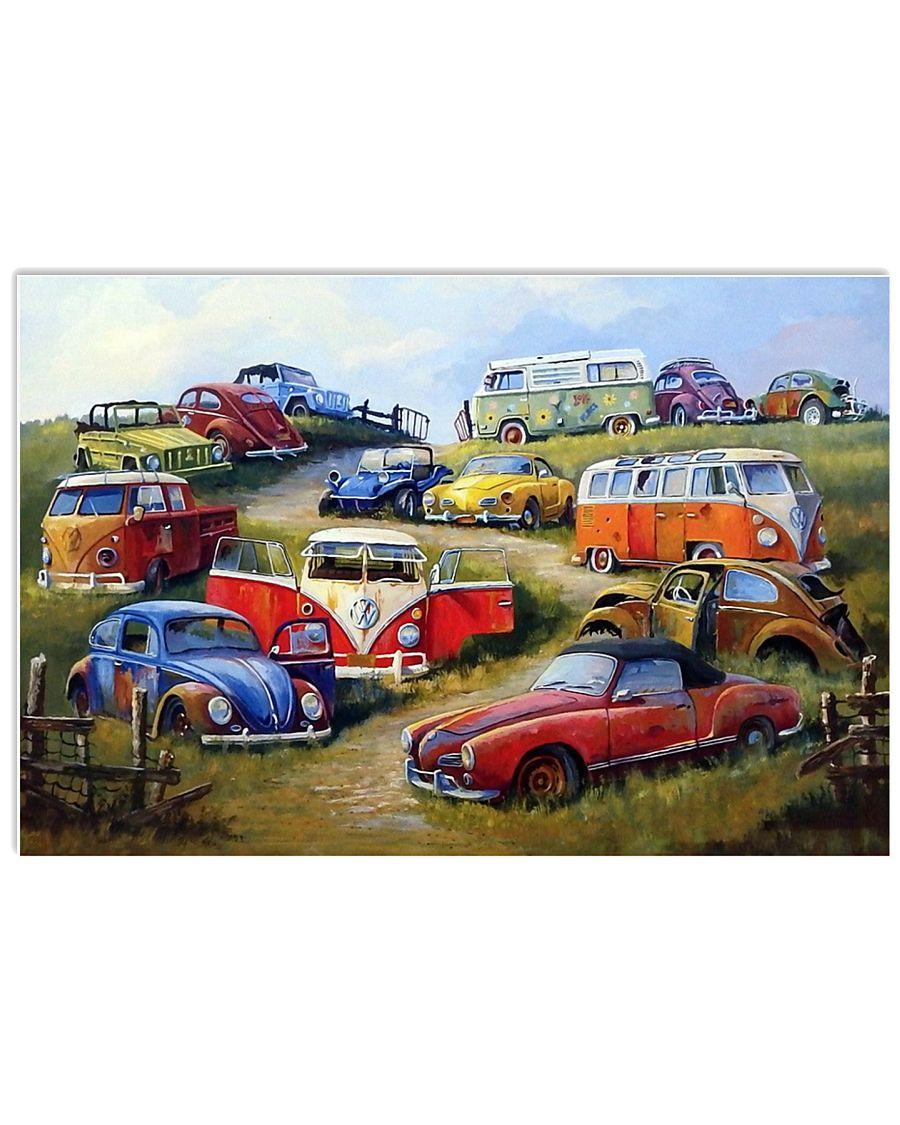 Campervan Type 2 17x11 Poster