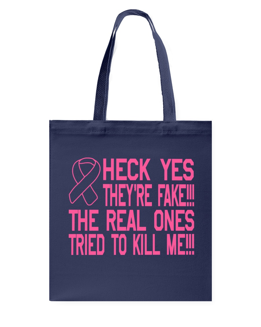 The real ones tried to kill me Tote Bag showcase