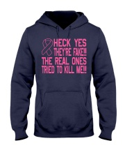 The real ones tried to kill me Hooded Sweatshirt front