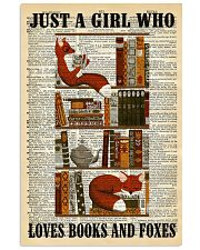 Books And Foxes 11x17 Poster front