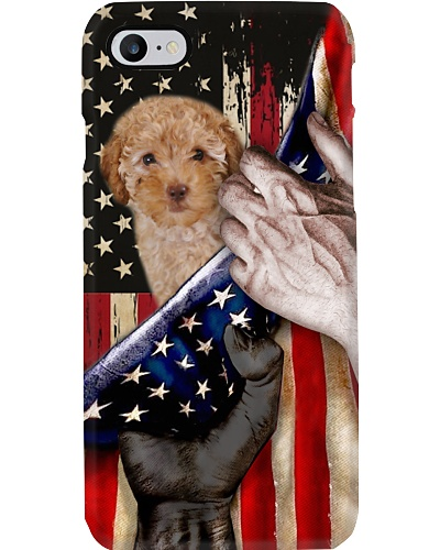 Love Poodle United State Flag