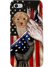 Love Poodle United State Flag Phone Case i-phone-8-case