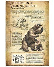 Prehistoric Animals Jefferson's Ground Sloth 11x17 Poster front