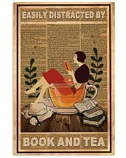 Easily Distracted By Book And Tea 11x17 Poster front