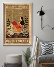 Easily Distracted By Book And Tea 11x17 Poster lifestyle-poster-1