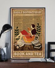 Easily Distracted By Book And Tea 11x17 Poster lifestyle-poster-2
