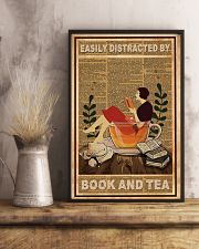 Easily Distracted By Book And Tea 11x17 Poster lifestyle-poster-3