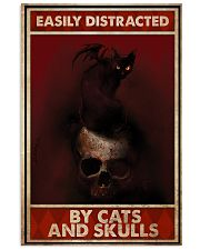 Black Cat And Skull Easily Distracted By Cats 11x17 Poster front