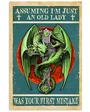 Old Lady Love Green Dragon 11x17 Poster front