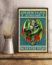 Old Lady Love Green Dragon 11x17 Poster lifestyle-poster-3
