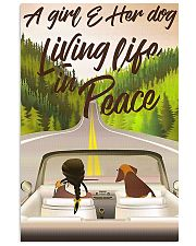 A Girl And Her Dog Living Life In Peace 11x17 Poster front