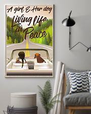 A Girl And Her Dog Living Life In Peace 11x17 Poster lifestyle-poster-1