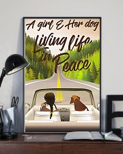 A Girl And Her Dog Living Life In Peace 11x17 Poster lifestyle-poster-2
