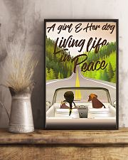 A Girl And Her Dog Living Life In Peace 11x17 Poster lifestyle-poster-3
