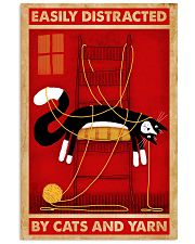 Black Cat And Yarn 11x17 Poster front