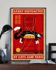 Black Cat And Yarn 11x17 Poster lifestyle-poster-2