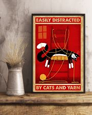 Black Cat And Yarn 11x17 Poster lifestyle-poster-3