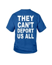 They Can't Depart US ALL Youth T-Shirt back