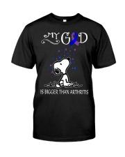 My God Is Bigger Than Arthritis Premium Fit Mens Tee thumbnail