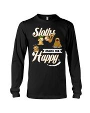 Sloths Make Me Happy Long Sleeve Tee thumbnail