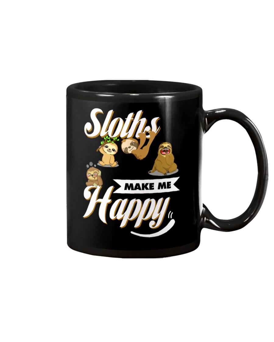 Sloths Make Me Happy Mug
