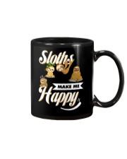 Sloths Make Me Happy Mug front