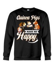 Guinea Pigs Make Me Happy Crewneck Sweatshirt thumbnail
