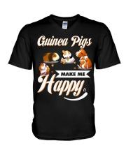 Guinea Pigs Make Me Happy V-Neck T-Shirt thumbnail