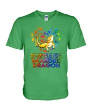 Bearded Dragon In My Heart V-Neck T-Shirt thumbnail