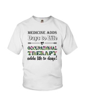 Occupational Therapy Add Life To Days Youth T-Shirt thumbnail