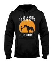 Just A Girl In Love With Her Horse Hooded Sweatshirt thumbnail
