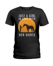 Just A Girl In Love With Her Horse Ladies T-Shirt thumbnail